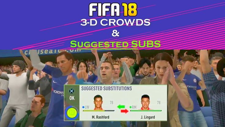 New Fifa 18 GAMEPLAY Addons 3D CROWD Suggested Substitutes and Confirmed Substitutions 00:32 Training before game 03:34 Goal 1-0 Celebrations 04:54 Half time 05:39 Goal 1-1 Celebrations 06:51 Goal 2-1 Long shot Celebrations 07:03 Suggested Subs Confirmed Substitutions 07:56 Suggested Subs Confirmed Substitutions 09:21 3d crowd 09:28 Suggested Subs Confirmed Substitutions 10:08 3d crowd A Sports FIFA 18 GROUP (All new Videos) : http://ift.tt/2iBhAgj EA Sports FIFA 18 Video Page…