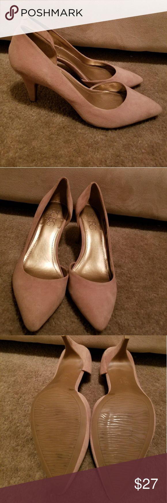 Tan kitten heels BING brand kitten heels tan BCBG Shoes Heels