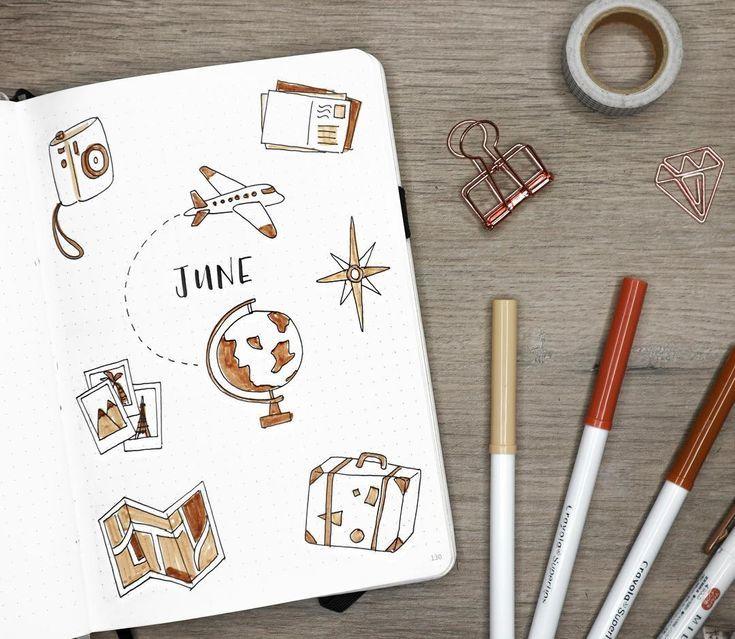 Finden Sie sofort Inspiration für die Monatsabdeckungen in Ihrem Bullet-Journal! Die ganze Id