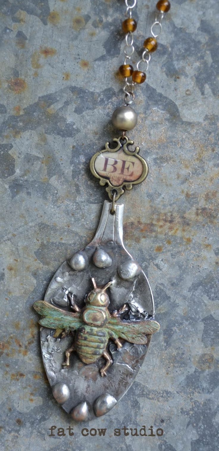 Absolutely love this!! solder embellishments & dimension to found objects, spoons...