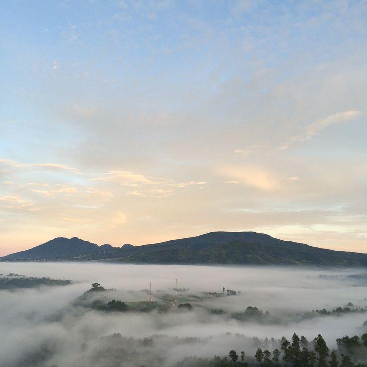 Sunrise at Tebing Keraton. Bandung, West Java. Indonesia.