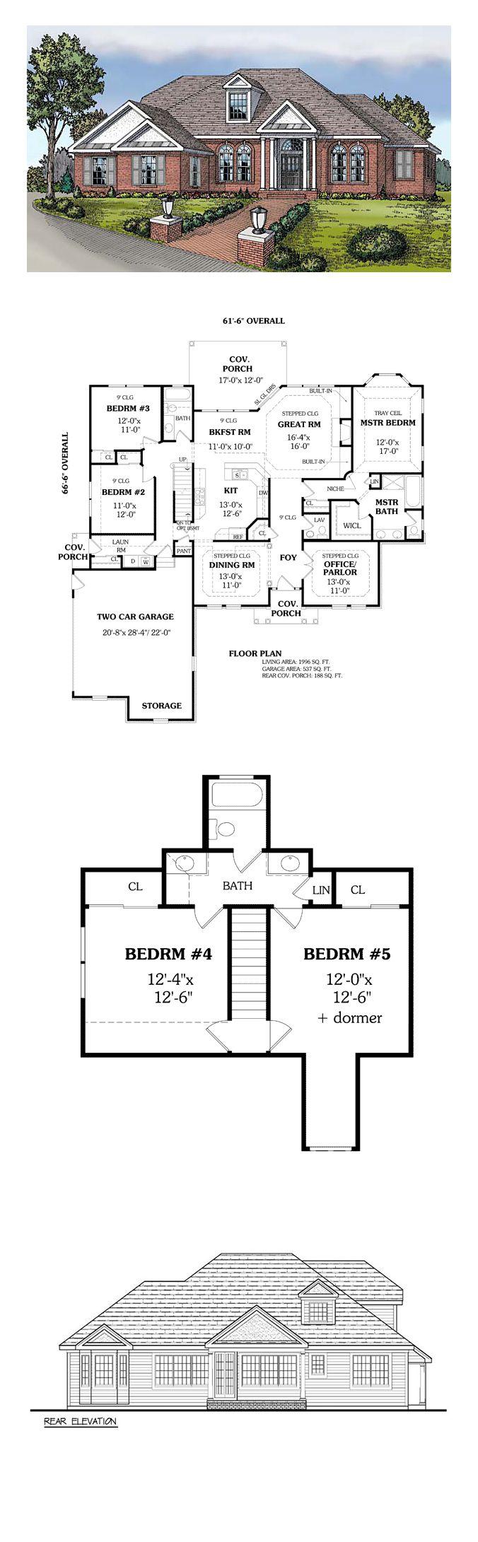 65 best european house plans images on pinterest european house colonial european traditional house plan 69509