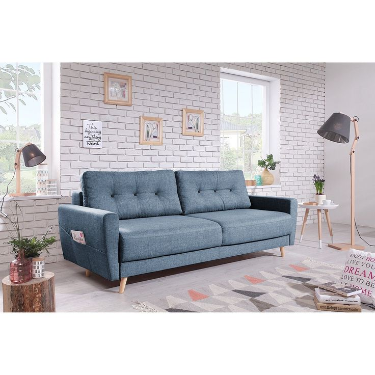 Moerteens Sofa Sola 3 Sitzer Taubengrau Webstoff 215x90x90 Cm Mit Schlaffunktion In 2020 Sofa Farm House Living Room Home