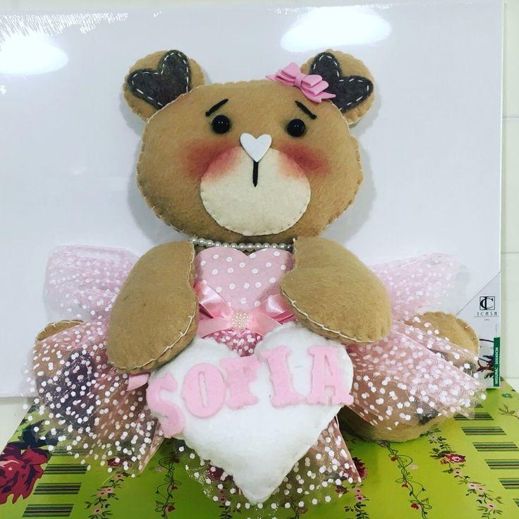 Fiocco nascita #born #polkadot #itsagirl #bear #pannolenci #feltro #handemade
