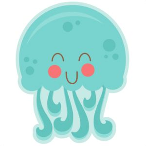Daily Freebie 6-16-14: Miss Kate Cuttables--Happy Jellyfish SVG cutting files for scrapbooking fish svg cut file for cricut cute svg cuts cute cut files cricut