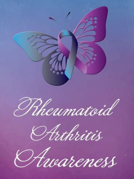 rheumatoid arthritis awareness ribbon color - Google Search