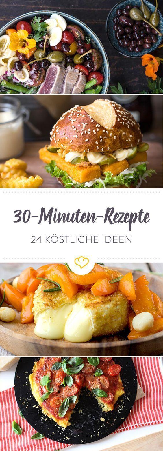 Der Feierabend hat gerufen! Mach's dir einfach und schnapp dir eines dieser 24 schnell gemachten Rezepte. Nach 30 Minuten steht das Essen auf dem Tisch.