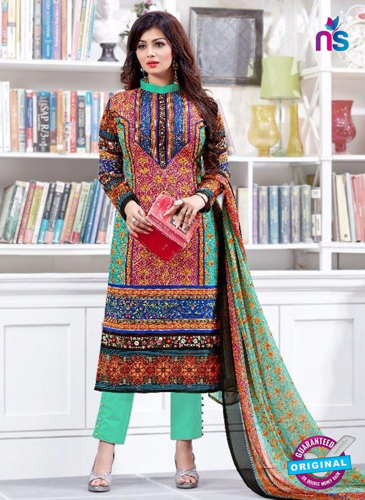 SC 13225 Pink Green and Blue Silk Crape Straight Suit #pakistanisalwarsuitsonine #pakistanisuitsonline #pakistanisalwarsuitsonlineshopping #pakistanisuitsonlineindia #BuyDesignerPakistaniSuits
