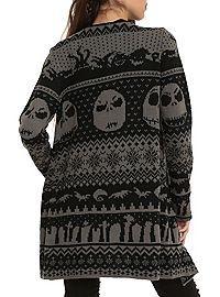 HOTTOPIC.COM - The Nightmare Before Christmas Black Grey Cardigan