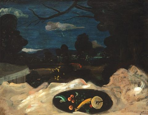 Andre Derain: Zátiší v krajině - Paysage a la nature morte