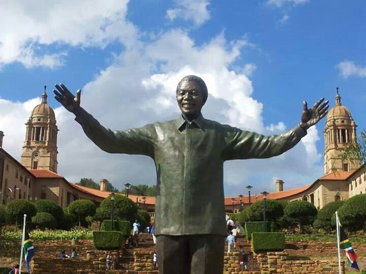 Nelson Mandela statue at the Union Buildings, Pretoria - one of the destinations on a number of our tours to South Africa http://www.greatrail.com/holiday-destinations/africa/south-africa/pretoria/