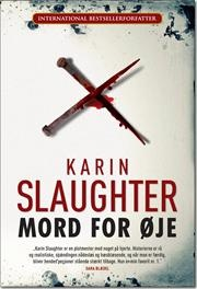 Mord for øje / af Karin Slaughter, ISBN 9788792845023  Hovedpersonen Sara Linton er retsmediciner. Et usædvanligt brutalt mord på en ung, kvindelig universitetsprofessor - søster til Saras ex-mands medarbejder. En anden ung kvinde forsvinder sporløst, - en serieforbryder på spil. Og det er måske heller ikke tilfældigt, at Sara gennem lang tid har modtaget et anonymt postkort med religiøse citateter en gang om året - af Sara Blædel (forkortet)