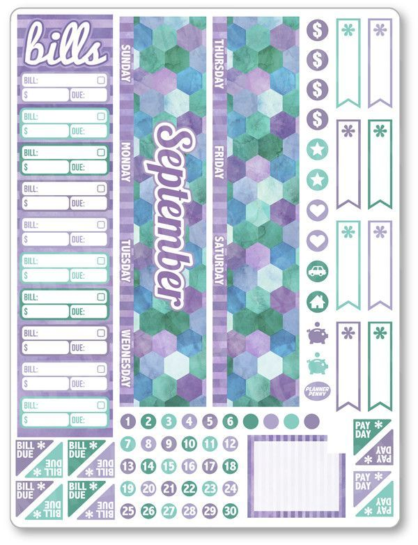 New product: SEP Monthly View ...! Get it here: http://www.plannerpenny.com/products/sep-monthly-view-purple-watercolor-planner-stickers?utm_campaign=social_autopilot&utm_source=pin&utm_medium=pin