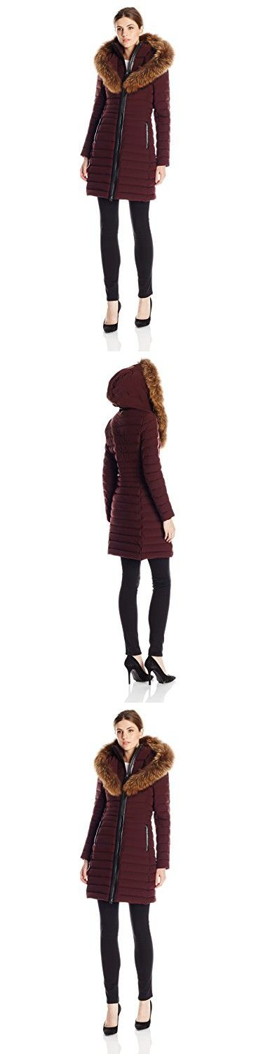 Mackage Women's Kaylina Lightweight Lux Down Coat, Bordeaux, Small