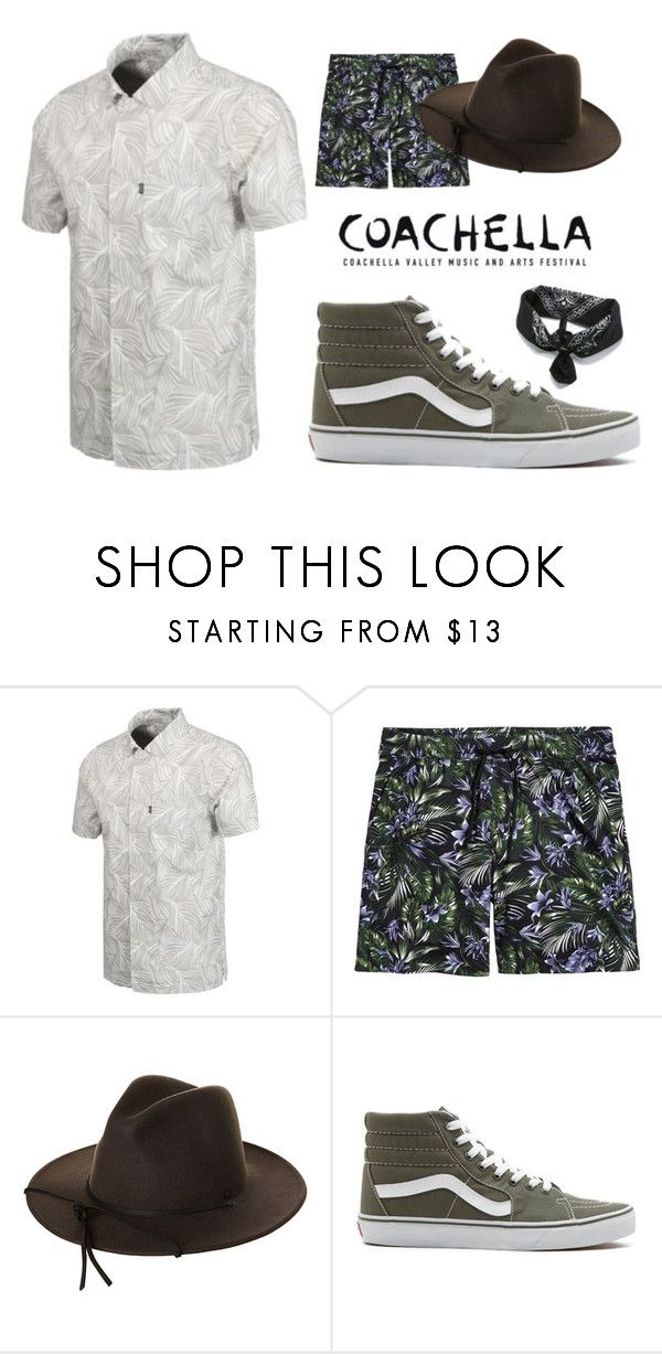 """COACHELLA MEN'S #4"" by akfhxny on Polyvore featuring HUF, Brixton, Vans, men's fashion and menswear"
