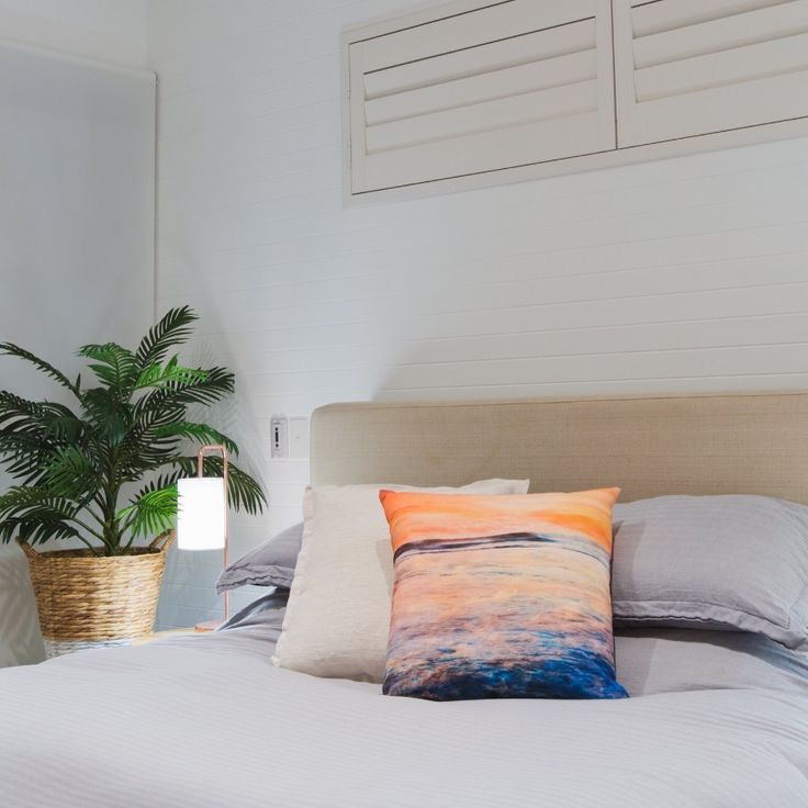 Home Ideas, Home Decor, Decorative Cushions by The Tide and The Moon Collective, Photography by Ange Wall Photography Cushion Print: Yallingup Sunset, a multiple exposure image printed onto fabric