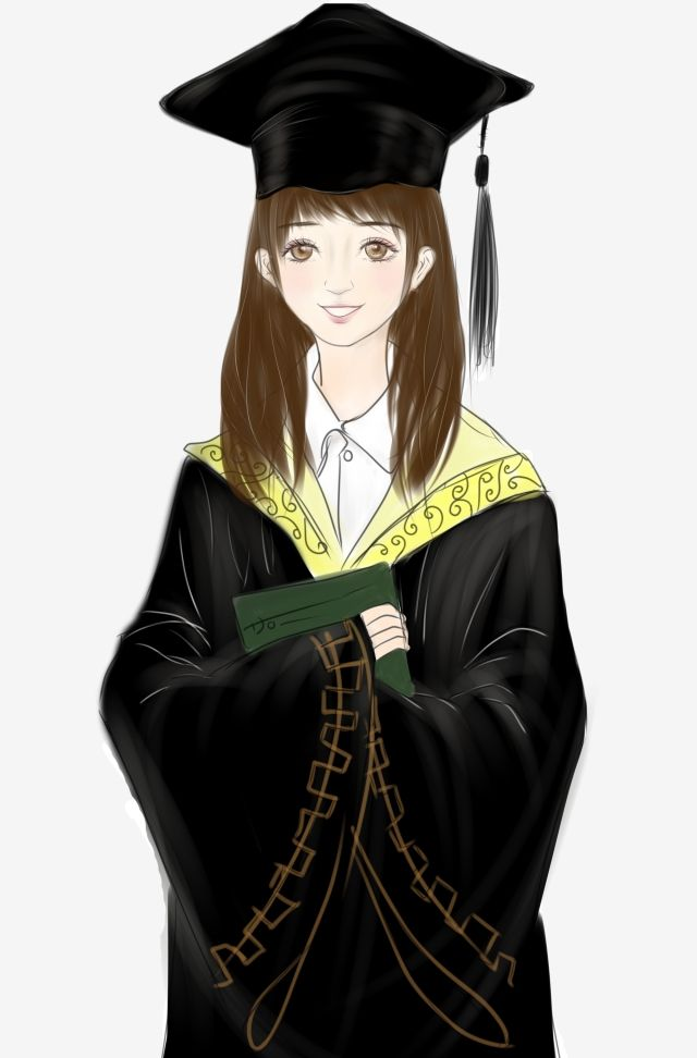 Graduation Graduation Season Graduation Photo Graduate Student Photo Clipart Hand Painted Cute Girl Png Transparent Clipart Image And Psd File For Free Downl Photo Clipart Graduation Photos Photo