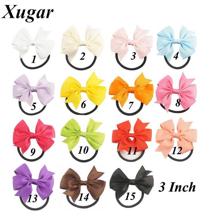 6 Stks Mooie Pinwheel Hairbows Voor Meisjes Kids Kleine Haar Boog Met Elastische Band Leuke Hairbow Haaraccessoires