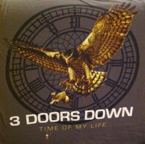 3 doors down time of my life tour tshirt 2012 size medium. Black Bedroom Furniture Sets. Home Design Ideas