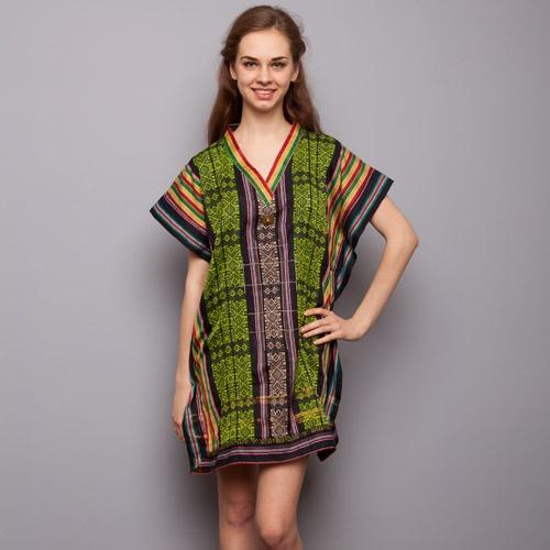 Flock Energy - Green V Neck Weaving Blouse IDR 840.000