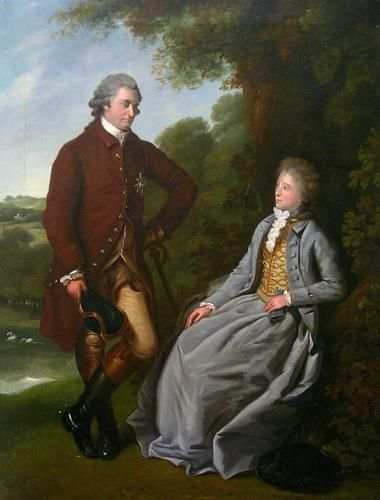 Miles Barton - Period paintings, historical portraits and fine art in London - The Duke & Duchess of Marlborough c.1787