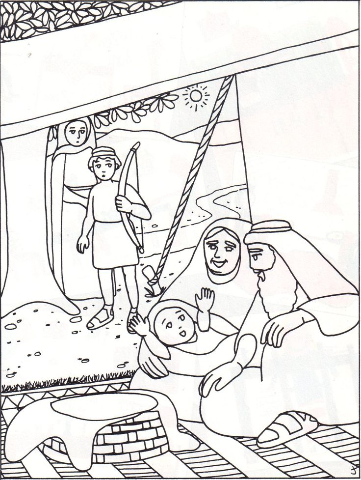 hagar and ishmael coloring pages - photo#13
