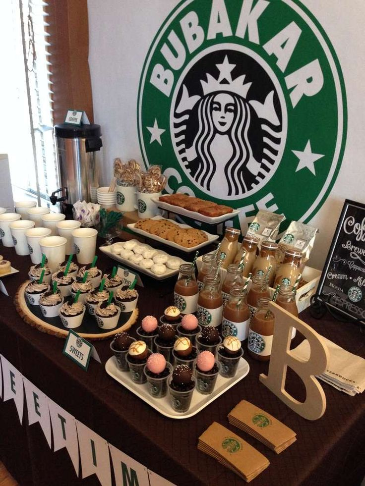 Starbucks Starbucks Cafe Dessert Bar Party Ideas   Photo 10 of 10   Catch My Party