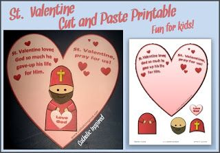 Saint Valentine's Day {Printables and Activities} + Link-up! | Catholic Inspired ~ Arts, Crafts, and Activities!