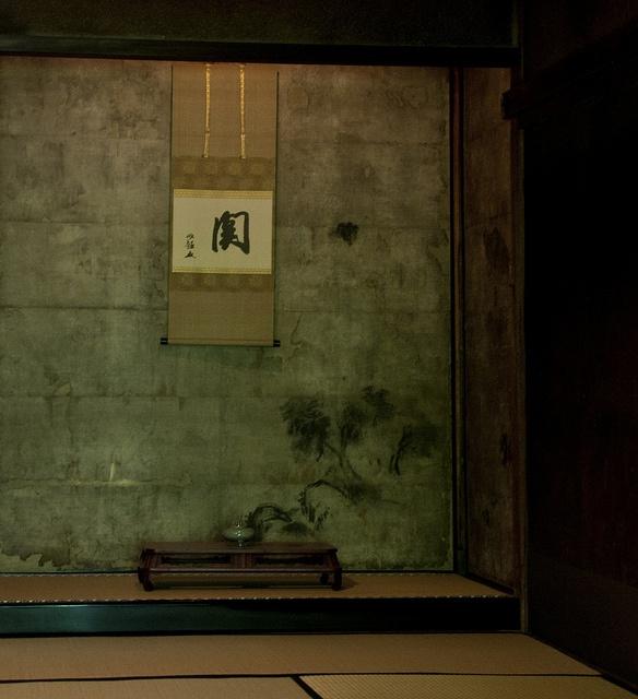 Tokonoma (Alcove). Daitoku-ji. Kyoto, Japan.