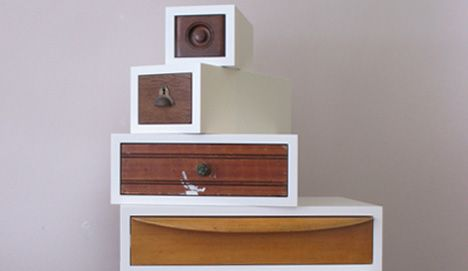 recycled wood dresser drawers