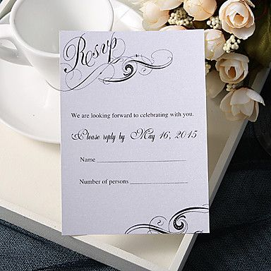 Personalize Wedding Response Cards - Romance (Set of 50) – USD $ 29.99