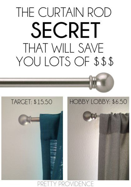 the curtain rod secret that will save you lots of $$$! pin now, read later!