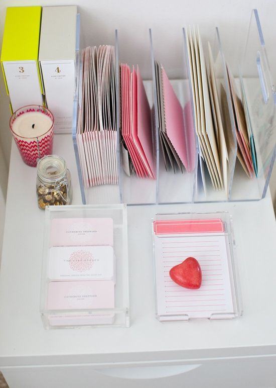 Love this plexi organizer.