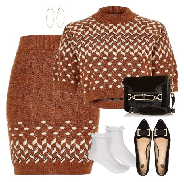 """""""Socks and loafers"""" by alwayswearwhatyouwanttowear ❤ liked on Polyvore featuring River Island, outfit, outfits and fashionset"""