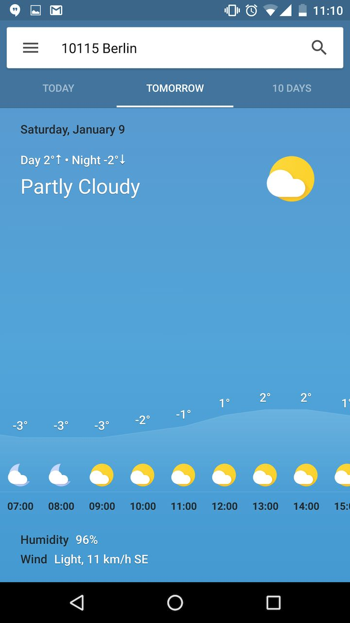 Google Is Testing A New Colorful, Gradient-Based, Cartoonish, And Detailed Weather Card
