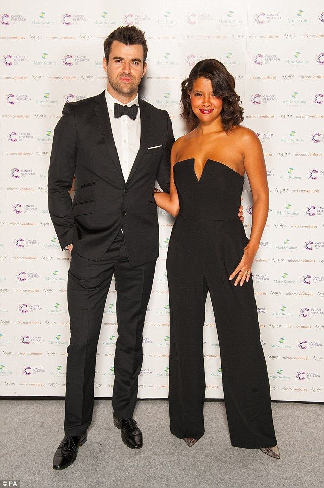 Snap: Dressed to the nines in matching black suits, Steve looked dapper in a two piece bla...