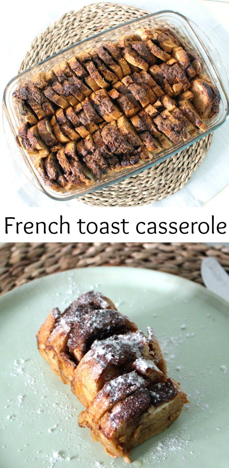 Left over French bread? Why not make this baked French toast casserole! It's simple, it's easy and super delicious. No more food waste!