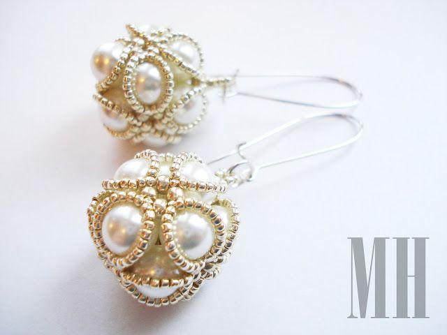 Kolczyki - perłowe kule | MH Biżuteria - cuda ręcznie wykonane