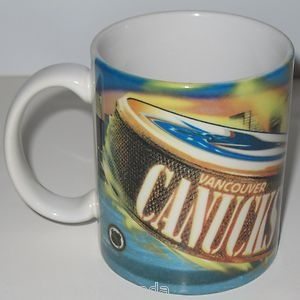 If you know and love the Vancouver Canucks, British Columbia, Canada's NHL hockey team, you would really enjoy drinking your morning coffee from this attractive mug.