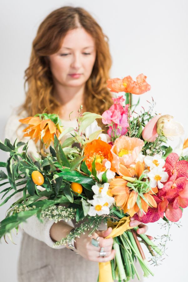Bold summer bouquet: http://www.stylemepretty.com/destination-weddings/2016/06/09/be-brave-with-your-wedding-bouquet/ |  Photography: Sarah Hannam - http://www.sarahhannam.com/