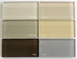 Image result for colored glass for backsplashes