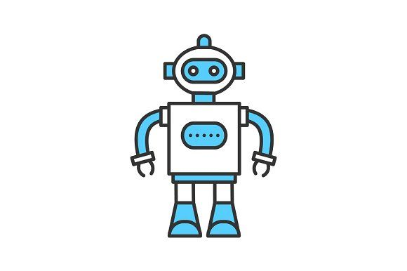 Toy Robot Color Icon Robot Toy Cute Icons Icon