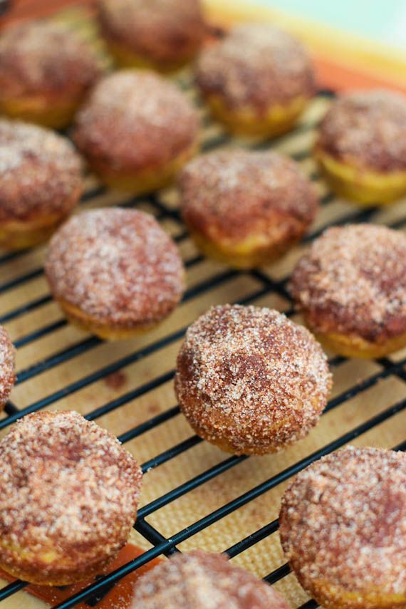 Irresistible Mini Cinnamon Sugar Pumpkin Muffins! Hard to stop at one, two, or the entire batch...