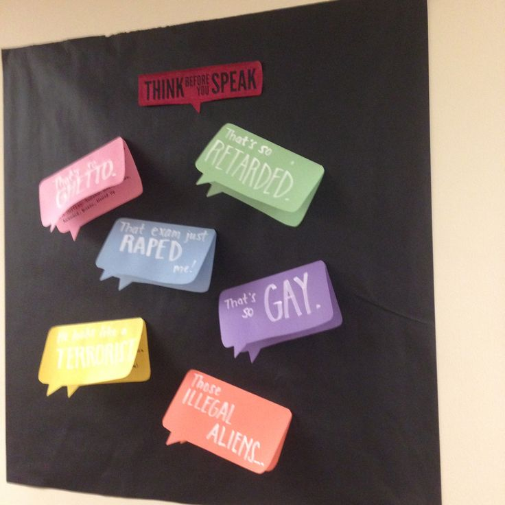 """Words Have Power"" Dardick 1 RA passive program/bulletin board on black. Great for diversity & inclusion focus area!"