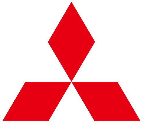"""Mitsubishi logo.svg > Logo for Mitsubishi Group and subsidiary companies. The name """"Mitsubishi"""" refers to the three-diamond emblem. """"Mitsubishi"""" is a combination of the words """"mitsu"""" and """"hishi"""". """"Mitsu"""" (Kanji: 三) means """"three"""". """"Hishi"""" (Kanji: 菱) means """"water chestnut"""", and Japanese have used the word for a long time to denote a rhombus or diamond shape."""