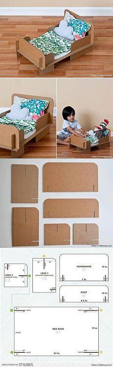 Кроватка для куклы своими руками | Из картона