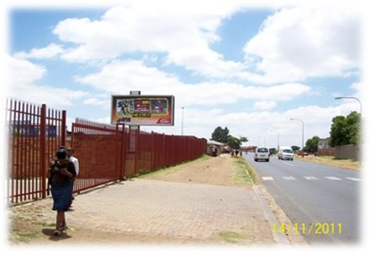 Soweto, Jabulani.    Bendile Road, inside the school yard