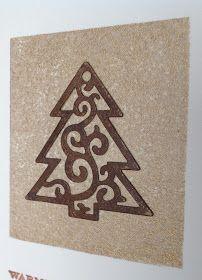 Weihnachtskarte, Hintergrundstempel von Heindesign
