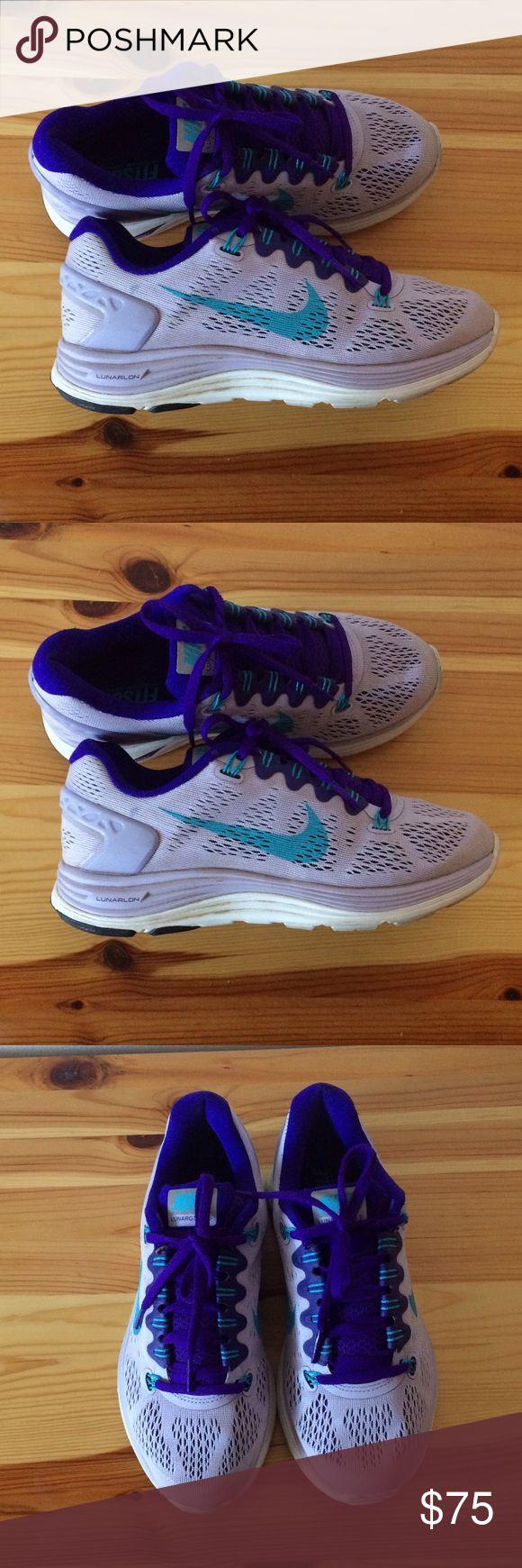 Nike lunar glide sneakers Woman's Nike lunar glides in purple woman's 6.5 Nike Shoes Sneakers