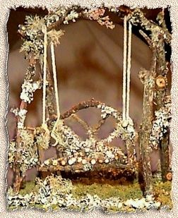 Annies minis website gives good instructions for making twig furniture, swings, cradles, and other fairy necessities!